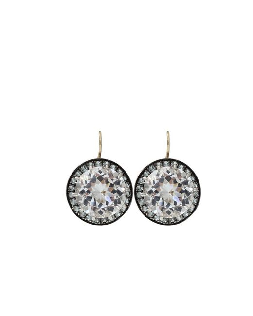 Andrea Fohrman - Multicolor 15mm Rock Crystal And Sapphire Earrings - Lyst