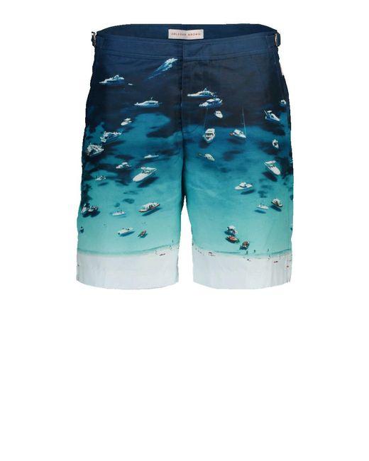Orlebar Brown - Blue Dane Ii Boat Pary Swim Trunk for Men - Lyst
