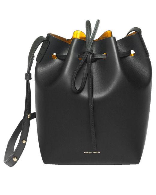 24c18f88aad4 Mansur Gavriel - Black Mini Bucket Bag - Lyst ...