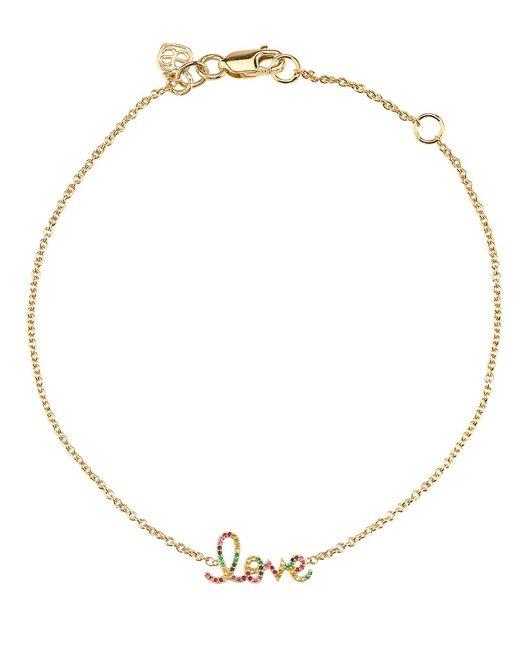 Sydney Evan | Metallic Large Rainbow Pave Love Bracelet | Lyst