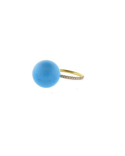Irene Neuwirth   Blue Kingman Turquoise Diamond Pave Ring   Lyst