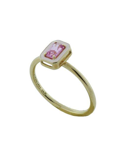 Alison Lou - Metallic Pink Sapphire And Enamel Ring - Lyst