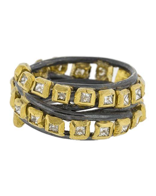 Boaz Kashi - Metallic Princess Diamond Wire Wrap Ring - Lyst