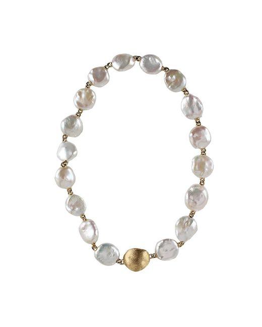 Keshi Pearl Necklace: Yvel Keshi Pearl Necklace In Metallic