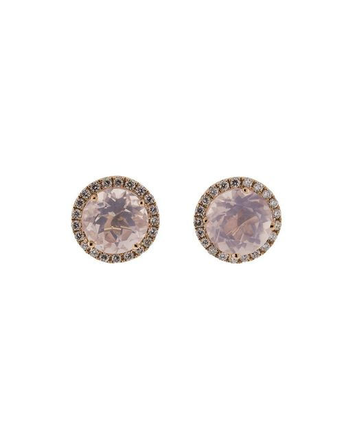 Dana Rebecca - Anna Beth Pink Quartz Stud Earrings - Lyst