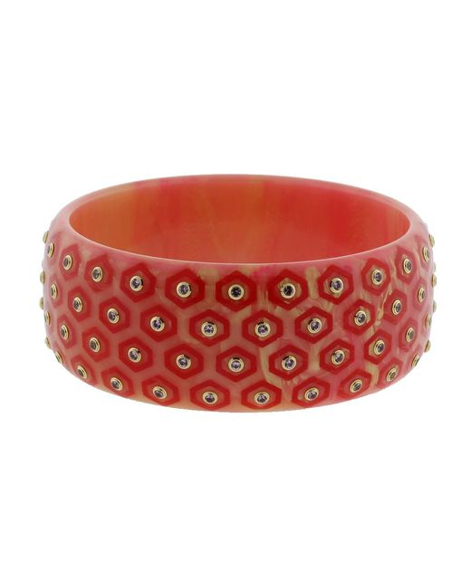 Mark Davis - Red Arabella Bakelite Bangle - Lyst