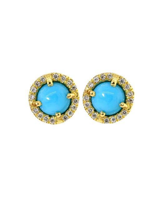 Irene Neuwirth | Blue Cabochon Turquoise Stud Earrings | Lyst