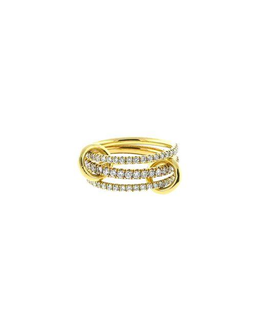 Spinelli Kilcollin | Metallic Ursula Three Link Diamond Pave Rings | Lyst