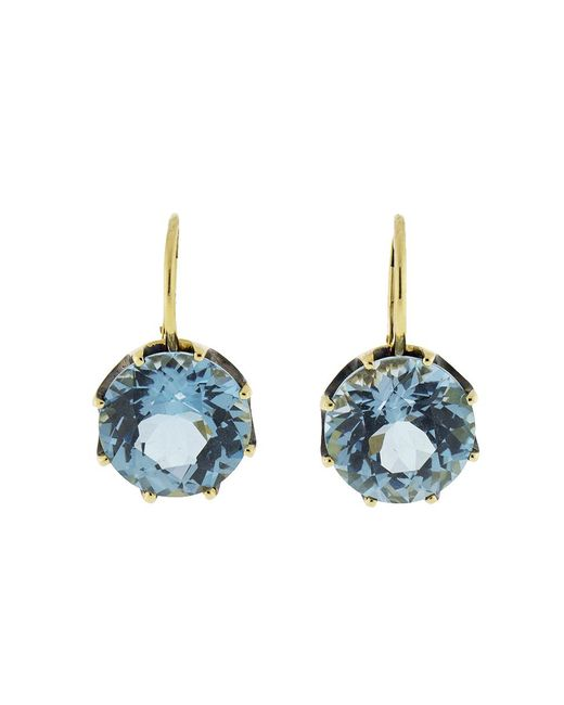 Sylva & Cie - Blue Topaz Earrings - Lyst