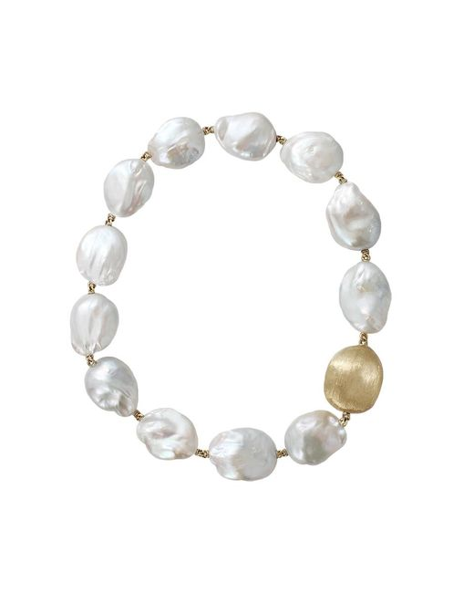 Yvel | White Baroque Freshwater Pearl Necklace | Lyst