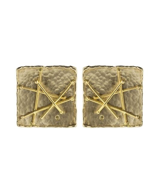 Boaz Kashi - Multicolor Square Criss Cross Stud Earrings - Lyst