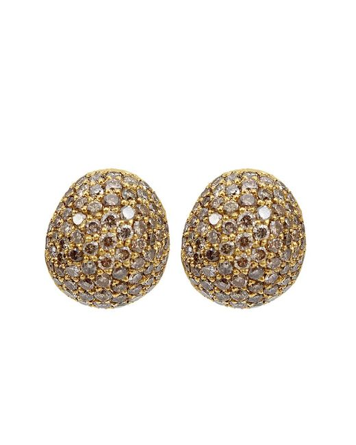 Yossi Harari - Brown Small Cognac Diamond Roxanne Earrings - Lyst