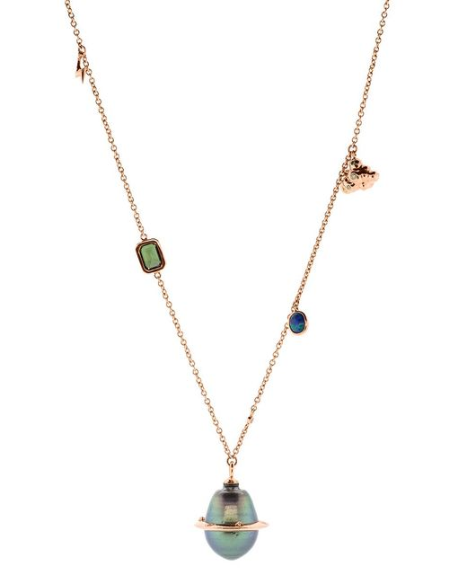 Bibi Van Der Velden - Metallic Small Planet Necklace - Lyst