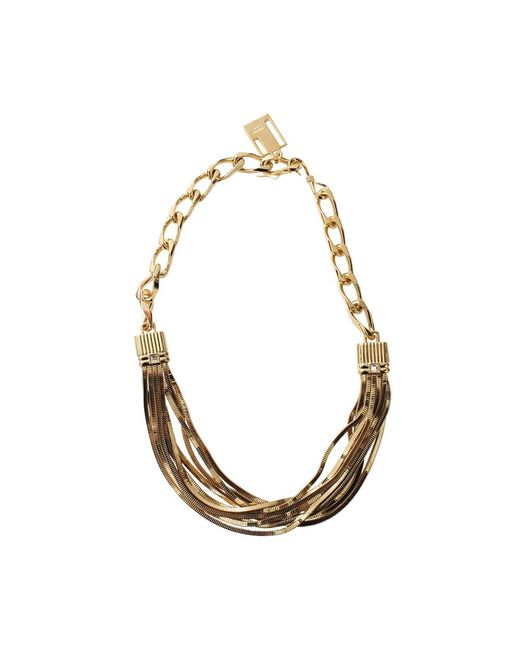 Lanvin - Metallic Art Deco Short Necklace - Lyst
