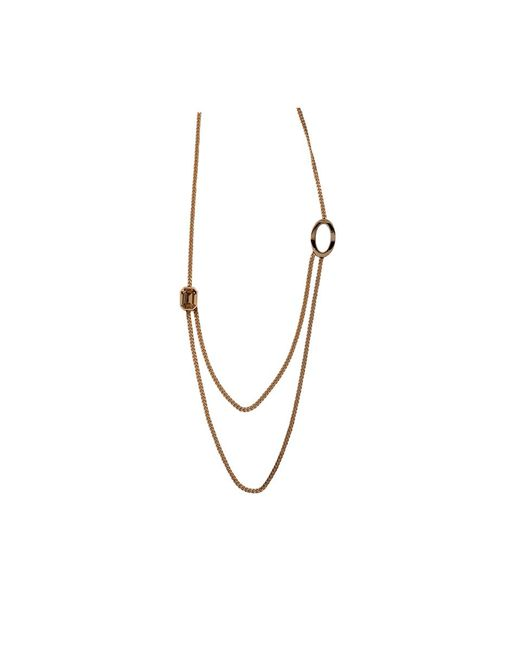 Rebecca | Metallic Elizabeth Long Circle Crystal Necklace | Lyst