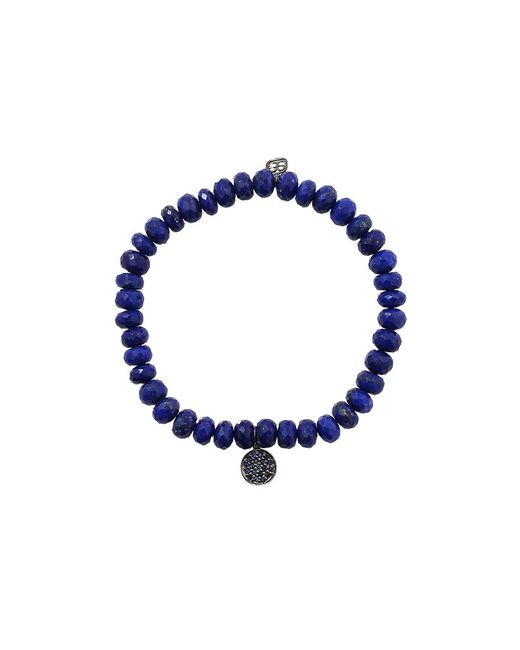 Sydney Evan - Blue Sapphire Disc Lapis Beaded Bracelet - Lyst