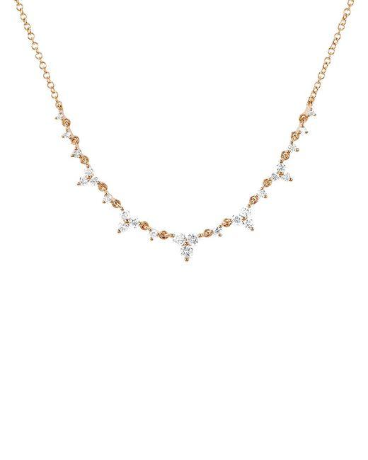 EF Collection - Metallic Diamond Trio Tiara Necklace - Lyst