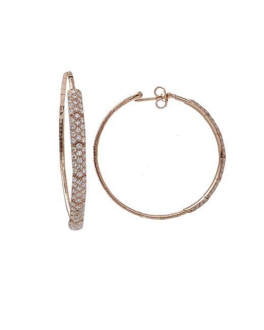 Mattia Cielo | Pink Rugiada Diamond Pave Hoop Earrings | Lyst