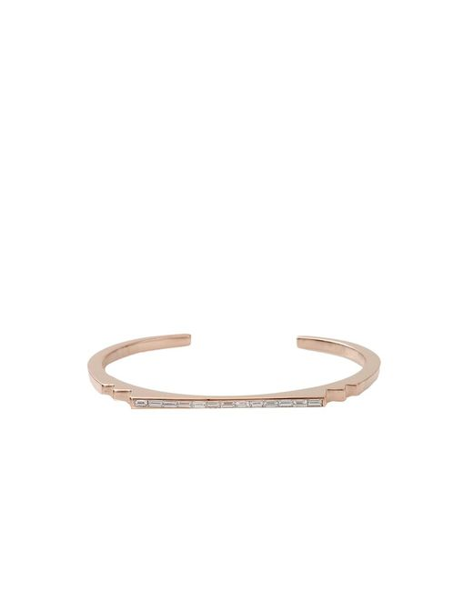 Monique Péan - White Diamond Step Baguette Cuff - Lyst