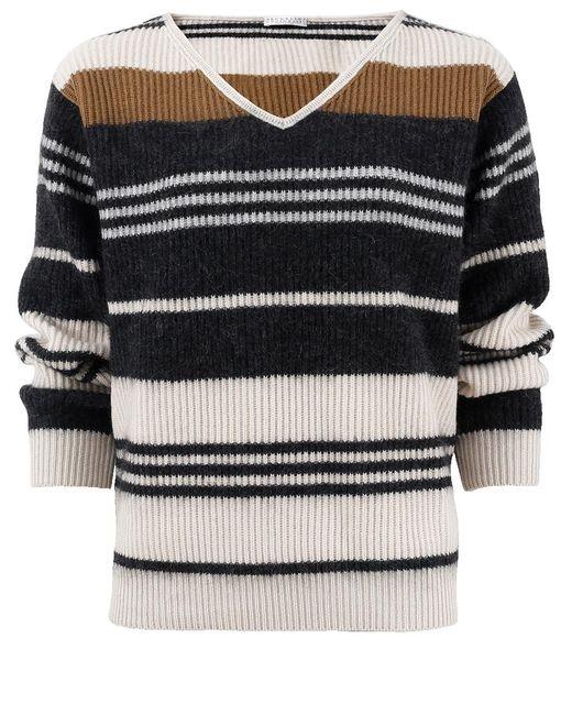 Brunello Cucinelli - Multicolor Stripe Pullover for Men - Lyst