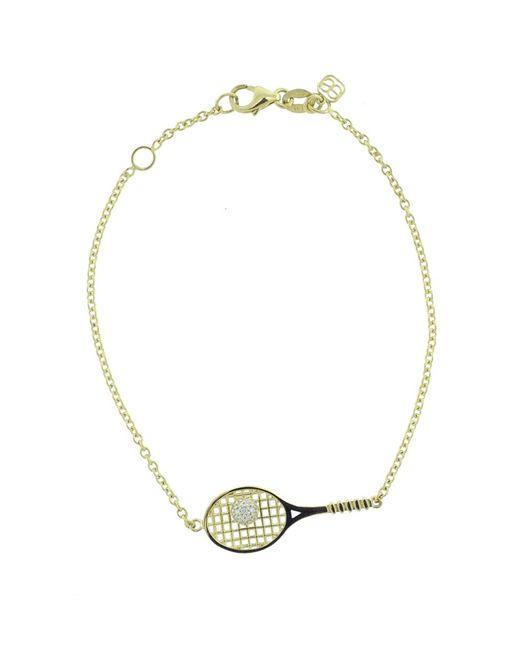 Sydney Evan - Metallic Tennis Raquet Bracelet - Lyst