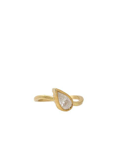 Boaz Kashi - Metallic Pure 24 Pear Shape Diamond Ring - Lyst