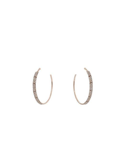 Mattia Cielo | Metallic Rugiada Cognac Diamond Hoop Earrings | Lyst