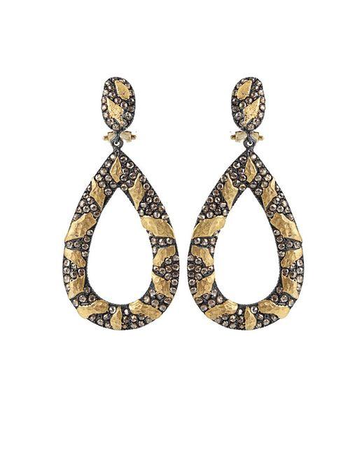 Yossi Harari - Brown Libra Cognac-diamond Drop Earrings - Lyst