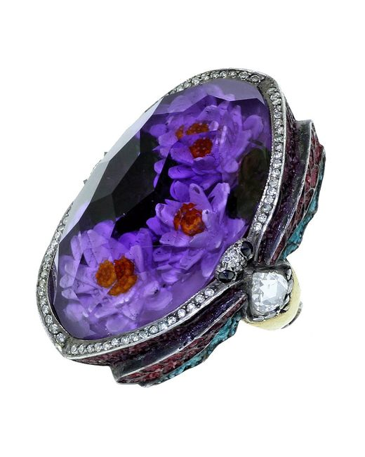 Sevan Biçakci | Multicolor Waterlily Amethyst Ring | Lyst