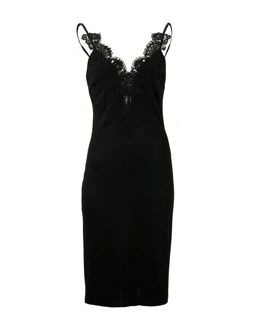 Givenchy - Black Cami Jersey Macrame Dress - Lyst