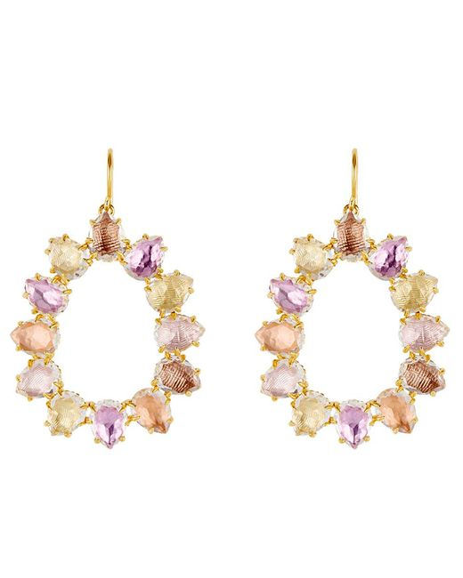 Larkspur & Hawk - Metallic Caterina Small Frame Bellini Earrings - Lyst