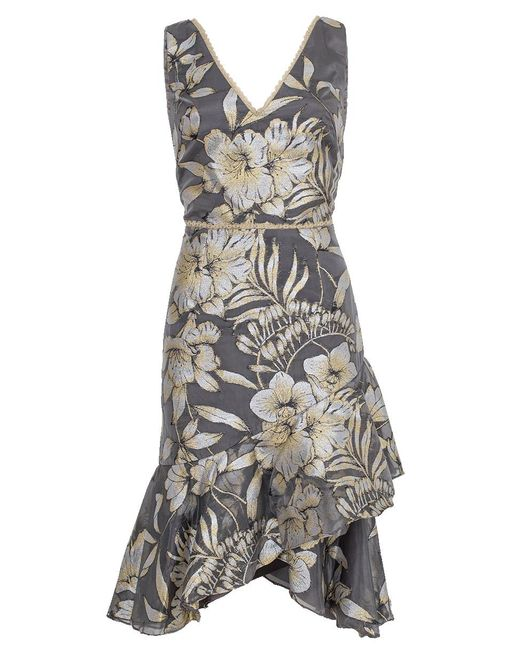 Notte by Marchesa - Metallic Cocktail Dress - Lyst