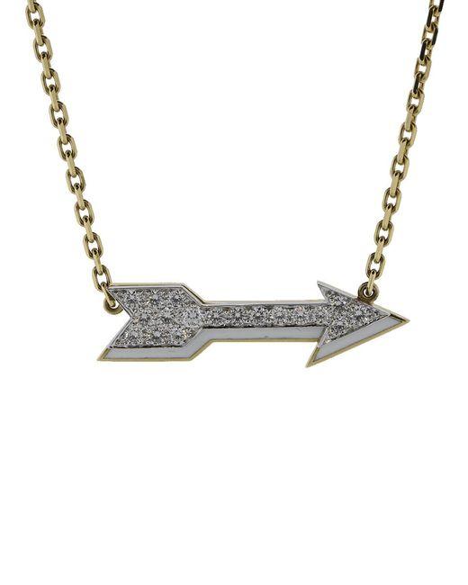 David Webb - Metallic Arrow Necklace - Lyst