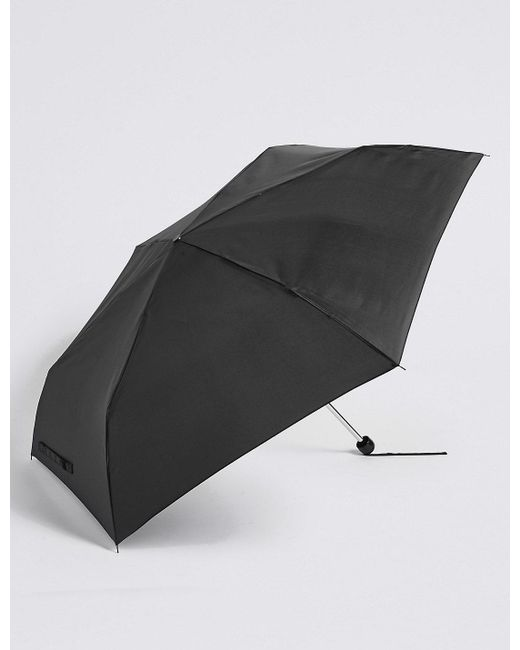Marks & Spencer | Black Sheen Compact Umbrella With Stormweartm | Lyst