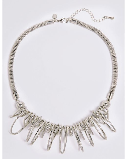 Marks & Spencer - Metallic Charm Shaped Collar Necklace - Lyst
