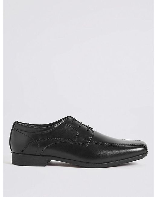 2a721e843f53a1 Marks & Spencer - Black Stitch Detail Lace-up Shoes for Men - Lyst ...