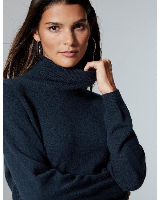 Marks & Spencer - Blue Pure Cashmere Roll Neck Jumper - Lyst
