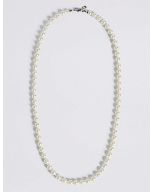 Marks & Spencer - Multicolor Pearl Effect Classic Mid Collar Necklace - Lyst