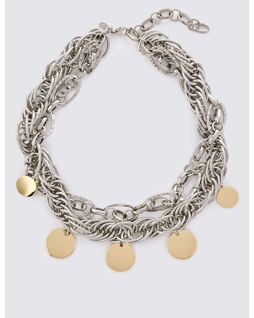 Marks & Spencer | Metallic Charmy Chain Collar Necklace | Lyst