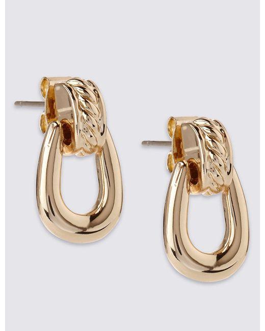 Marks & Spencer | Metallic Gold Plated Loop Drop Earrings | Lyst