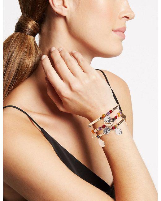 Marks & Spencer - Multicolor Bead & Disc Stretch Bracelet Set - Lyst