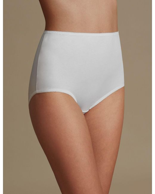 b3ef588b2 Marks   Spencer 7 Pack Cotton Rich Full Briefs in White - Save 22 ...