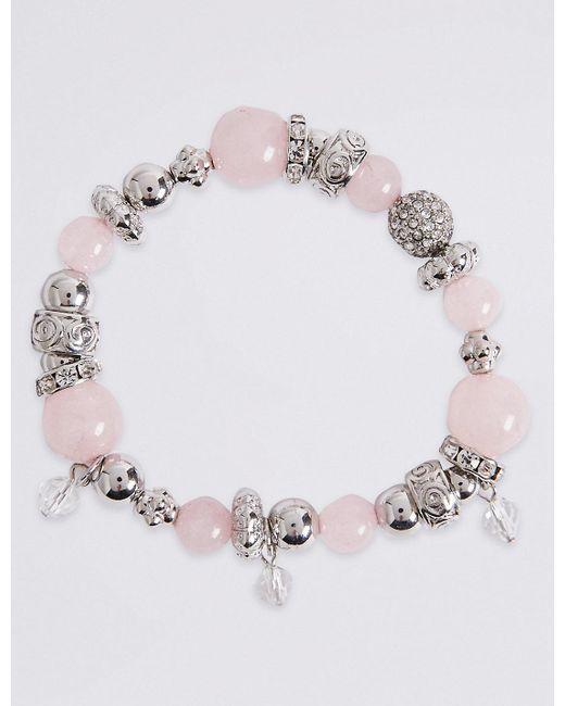 Marks & Spencer   Pink Sparkle Bracelet   Lyst