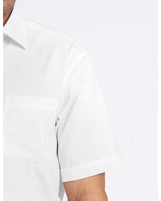 0e146d0e4d90 ... Marks & Spencer - White Pure Cotton Regular Fit Non-iron Twill Shirt  for Men ...
