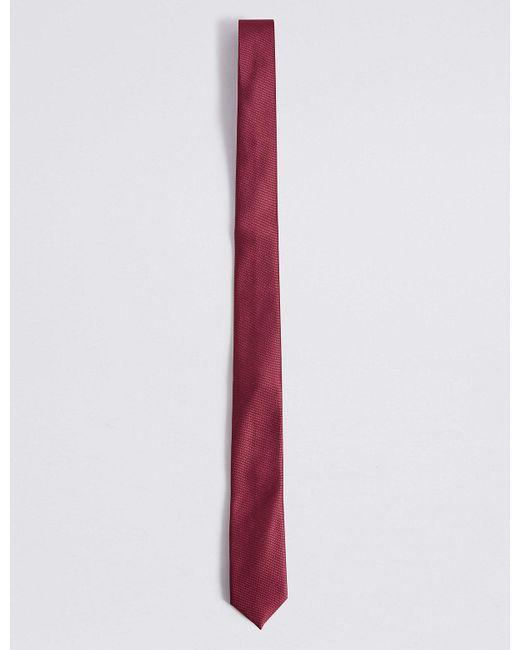 Marks & Spencer - Purple Skinny Textured Tie for Men - Lyst