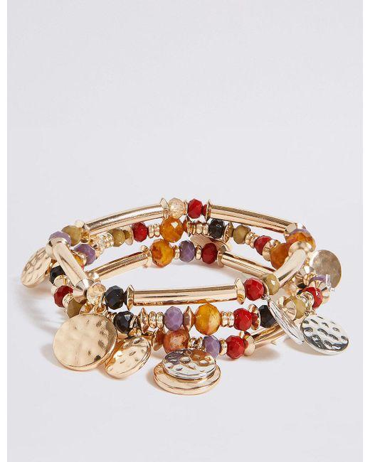 Marks & Spencer | Multicolor Bead & Disc Stretch Bracelet Set | Lyst