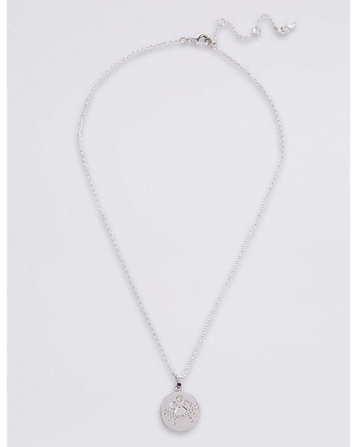 Marks & Spencer   Metallic Cancer Necklace   Lyst