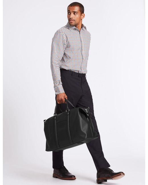 Marks & Spencer - Black Saffiano Holdall for Men - Lyst