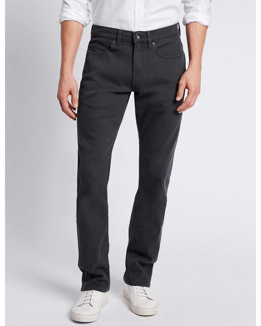 5b3fa9c12c25 Lyst - Marks & Spencer Slim Fit Stretch Travel Jeans in Gray for Men