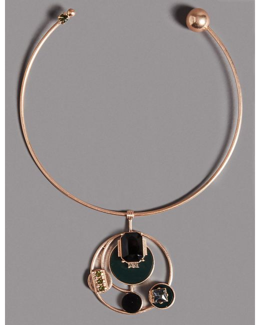 Marks & Spencer | Metallic Torque Circle Necklace | Lyst